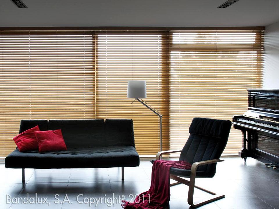 Persianas de madera persianas enrollable de madera de - Persiana veneciana madera ...