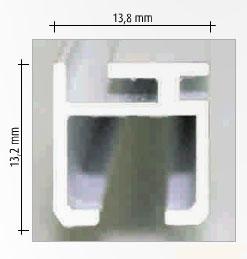 Riel de Aluminio para Cortinas sin Cordon
